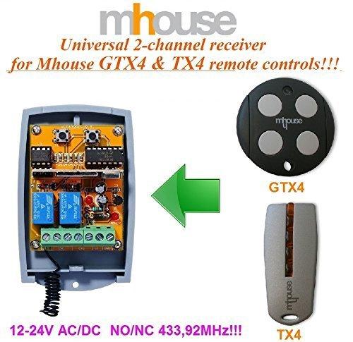 Alta calidad. Mhouse TX4/Compatible Mando a distancia transmisor 433,92/mhz distancia de repuesto para Mhouse GTX4/C MHOUSE GTX4