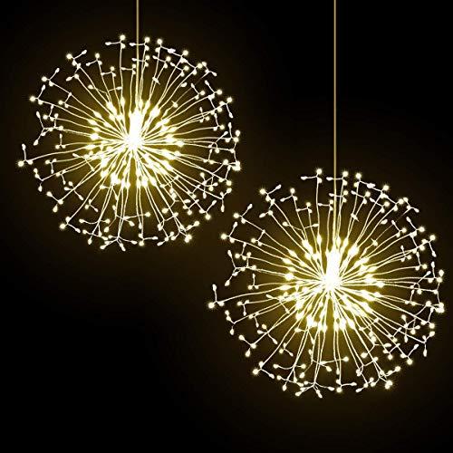 hualiyuyuan Firework Lights, LED Fairy Lights 198 LED, DIY Led Light Decoration for Christmas, Home, Patio, Indoor Outdoor (Firework Lights)