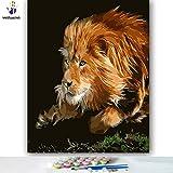 DIY Pintar por númerosColorea la Imagen Imagen del Rey del Bosque 40x50cm Sin Marco