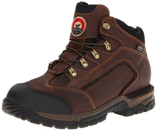 """Irish Setter Men's 5"""" 83402 Steel Toe Hiker Work Boot,Brown,10 D US"""