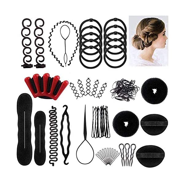 [category] Winkeyes Hair Styling Set, Hair Design Styling Tools Accessories