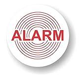 Decooo.be Pegatinas autoadhesivas disuasorias (calidad exterior, resistente a la lluvia y los rayos UVA, redondas, 45 mm), diseño con el texto Alarm - 10