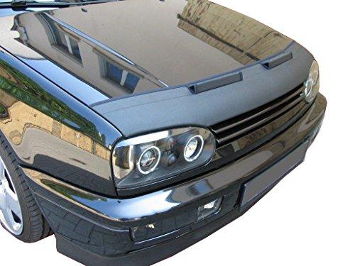 AB-00002 Bonnet BRA für Golf 3 in schwarz Haubenbra Steinschlagschutz Motorhaubenschutz Maske Tuning