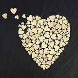 ZesNice Streudeko Hochzeit, 500 Stück Holz Herzen Scheiben Naturholzscheiben unlackiert Holzherzen für Tischdeko DIY Handwerk Verzierungen(Gemischt 4 Größen: 1cm 2cm 3cm 4cm) - 4