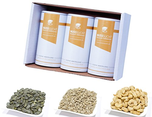Brot Back Set | Brot backen Zutaten | 3x250g Bundel | Nussmischung Naturell | Kürbiskerne | Sonnenblumenkerne | Cashewkerne