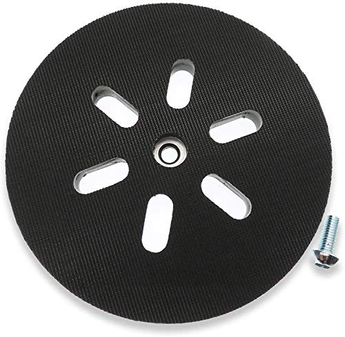 Poweka Disco de lijado de 150 mm para lijadora orbital Bosch GEX 150 AC, PEX 15 AE, GEX 150 Turbo, 150 mm, con tornillos de Poweka