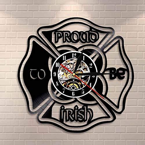 3D Vinyl Wanduhr wird stolz irischen Wandkunst St. Patrick Day Home Dekoration irischen Kleeblatt Home Dekoration Uhr irischen Stolz Geschenk Uhr