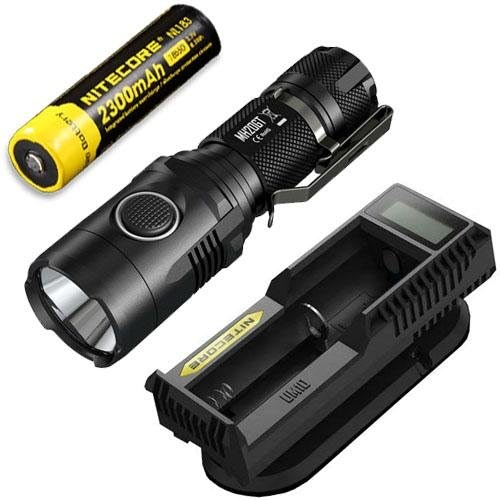 Nitecore MH20GT Rechargeable Flashlight CREE XP-L HI V3 LED -1000Lm w NL183 Battery & UM10 Charger