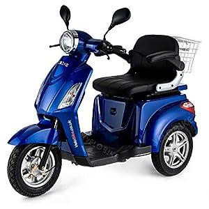 VELECO 3 Wheeled Electric Mobility Scooter 900W 8 mph/16 mph ZT15 Blue