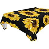 Baofu Sunflower Tablecloth Rectangle Colorful Vintage Star Polyester Table Cloth Large Square Table Cover for Dining Kitchen Party 60'x108'