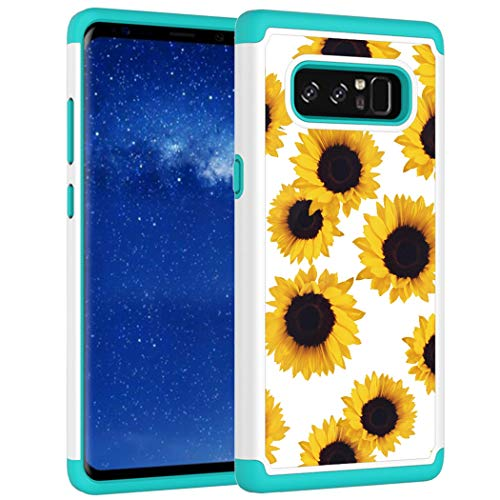 Vavies Case for Galaxy Note 8, Galaxy Note 8 Phone Case for Girls Women, Shock Absorption Dual Layer Heavy Duty Protective Cover Rugged Cases for Samsung Galaxy Note 8 (Sunflower)