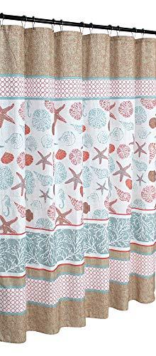 Victoria Classics Sea Shell Fabric Shower Curtain 72x 72 Harbor Lights