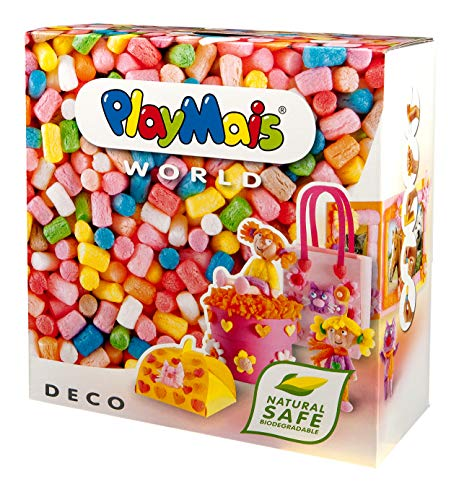 PlayMais World Deco Jeu de Construction pour Enfants à partir de 5 Ans   1000 pièces PlayMais, modèles et Mode d'emploi   stimule la créativité et la motricité   Cadeau pour Filles et garçons