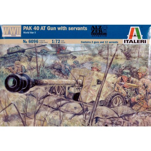 Italeri 6096 - German Pak 40 At Gun W/Servants Scala 1:72