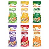 Happy Baby Organic Superfood Puffs Variety Pack, 2.1 Ounce (Pack of 6)