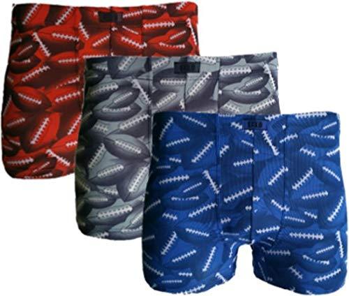 3 stuks BodyTime boxershort microfiber-american football