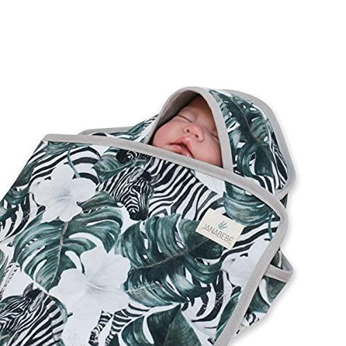 JANABEBE Capa de baño Newborn 75x75 (Zebra)