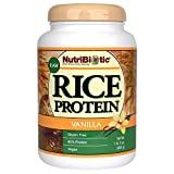 NutriBiotic Vanilla Rice Protein, 21 Ounce | Low Carb, Keto-Friendly, Vegan, Raw Protein Powder | Grown & Processed Without Chemicals, GMOs or Gluten | Easy to Digest & Nutrient Rich