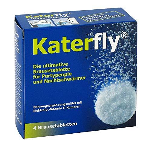 Deitert Katerfly - Brausetabletten für Partymacher und Nachtschwärmer | 4 Stück - Elektrolyt-Vitamin C-Komplex - Bei Müdigkeit und Erschöpfung