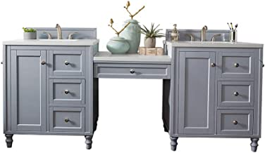 86 in. Double Vanity Set in Silver Gray Finish