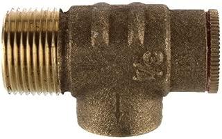 PLUMB eeze Brass Pressure Relief Valve Set @ 75 PSI for Water Well Pressure Tank, 3/4