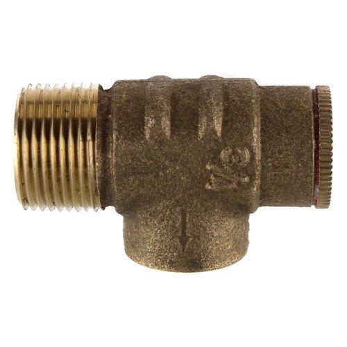 PLUMB eeze Brass Pressure Relief Valve Set @ 75 PSI for Water Well Pressure Tank, 3/4'