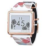 [エプソン スマートキャンバス]EPSON smart canvas Flower ローズ (金具ピンクゴールド) 腕時計 W1-FL11020 レディース