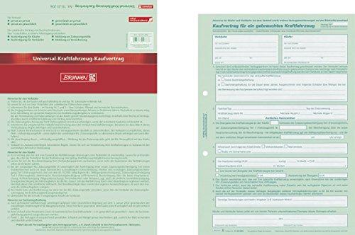 Baier & Schneider Vertragsformular Kaufvertrag, selbstdurchschreibend, Abheftlochung vorhanden, A4