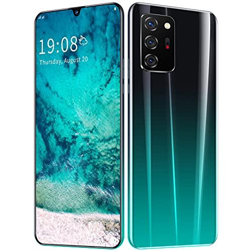 RUBAPOSM Teléfono Móvil Red Android 10 5G, Pantalla Completa HD 6.5in, 8 + 256GB de Memoria (Ampliable) con WiFi/BT/FM/GPS, Tarjeta SIM Dual, Desbloqueo Facial Inteligente