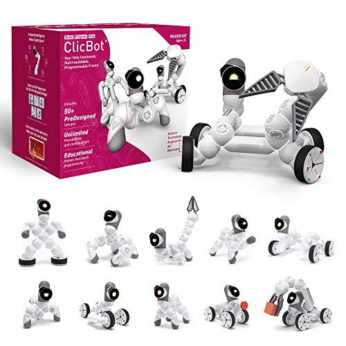ClicBot Coding Robot Kits for Kids STEM Educational Toys for Programming with Remote Control Blocks Robot with Touch Screen for Age 8 Maker Kit