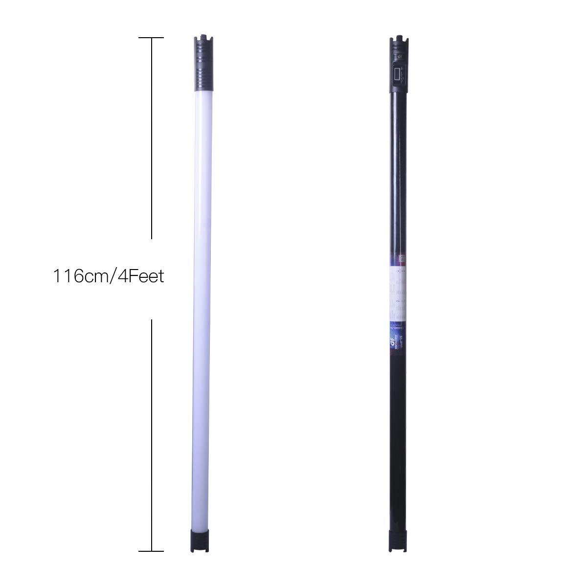 DF DIGITALFOTO Chameleon RGB Tubo de luz LED, 2800-9990K 4 pies 116 cm Temperatura de Color Recargable luz Continua para fotografía: Amazon.es: Electrónica