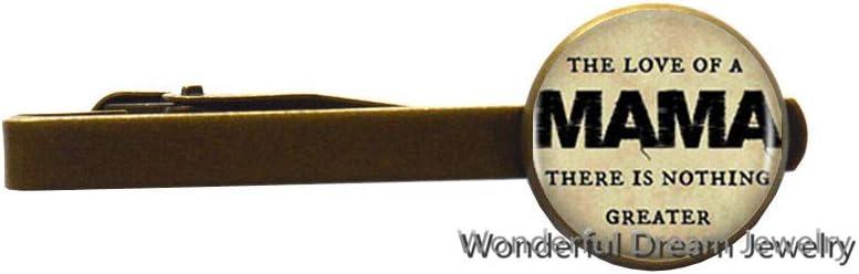 Fashion Love Mother Logo Tie Clip Tie Pin Art,Mothers Day Tie Clip,Gifts for mom,Mothers Day,Mothers Tie Clip,Mothers Day Gift,PU106 (Brass)