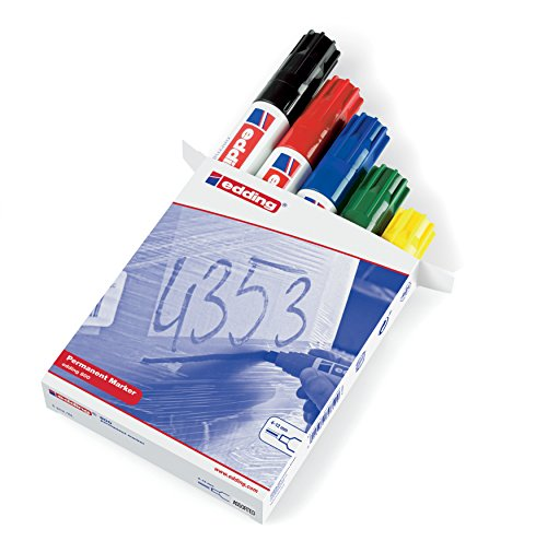 edding 4-800999 Permanentmarker 800, nachfüllbar, 4 - 12 mm, sortiert, 5-er Packung