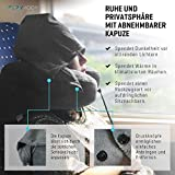 Nackenkissen aufblasbar von FLOWZOOM® - aufblasbares Nackenhörnchen für Reisen und zu Hause in Quarantäne - Schnell aufblasbar, Nacken- und Kinn-stützend mit samtweichem Bezug - 6