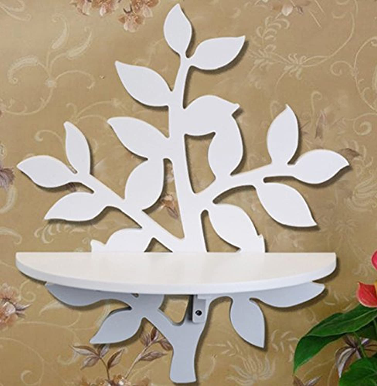 Pastoral Leaves Decorative Shelf Wall Mount Wall Shelf Shelves Shelf Creative Home Decorations
