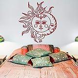 fancjj Sol y Luna Etiqueta de la Pared Pegatina símbolo étnico calcomanías de...