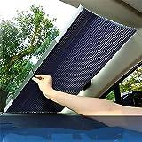 BESTEU - Protector solar retráctil para coche con aislamiento térmico y sombreado para el interior del parabrisas delantero