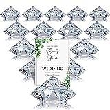 Boao 24 Packungen Tischkarten Halter Harfe Clip Tischnummern Halter Diamant Acryl Kristall Tischkarten Ständer für Party Hochzeit Tisch Dekoration