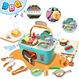 Kitchen Playset for Kids Toy for 3-7 Year Old Boys Girls Pretend Play