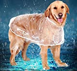 zhxinashu Perros Grandes Impermeable al Aire Libre Transparente Ropa XS-6XL(4XL)