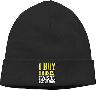 I Wanna Buy A House Skull Hats Beanies Cap Classic Men Winter