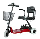 Shoprider - Echo 3 - Portable Travel Scooter - 3-Wheel - Red - PHILLIPS POWER PACKAGE TM - TO $500 VALUE