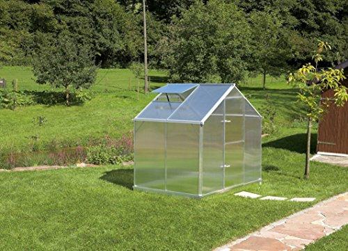 Gartentec Aluminium Gewächshaus Typ F2 - Typ F6 (Typ F2: 3,50 m²)