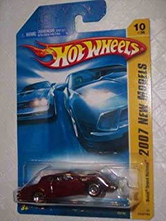 Hot Wheels 2007 New Models -#10 Buick Grand National Burgundy 5 Spoke Wheels #2007-10 Mattel 1:64 Scale Collectible Die Cast Car