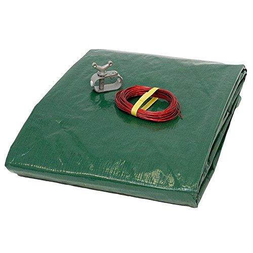 Abdeckplane 180g/m² grün/schwarz für 5,30 x 3,20 -5,40 x 3,50 m Oval-/Achtform Pool