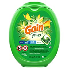 3-in-1: Gain detergent, Oxi Boost, and Febreze Freshness 6 weeks of freshness from wash until wear 50% more scent than Gain liquid laundry detergent Works in all washing machines even in cold water Keep out of reach of children