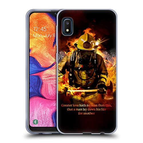 Head Case Designs Officially Licensed Jason Bullard Fireman 2 Firefighter Soft Gel Case Compatible with Samsung Galaxy A10e (2019)