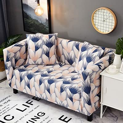 MKQB Funda de sofá con Envoltura hermética Antideslizante, Funda de sofá elástica elástica, Funda de sofá de Esquina en Forma de L para Sala de Estar Moderna NO.2 S (90-140cm