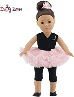 Emily Rose 18 Inch Doll Clothes for American Girl Dolls | Doll Ballerina Ballet 4 Piece Outfit, Includes Doll Shoes | Gift Boxed! | Fits 18