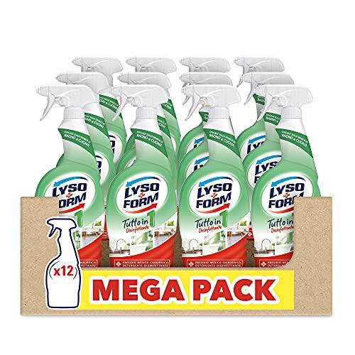 Lysoform Spray Disinfettante Multisuperfici Tutto in Uno, Maxiformato 12 Pezzi da 750 ml